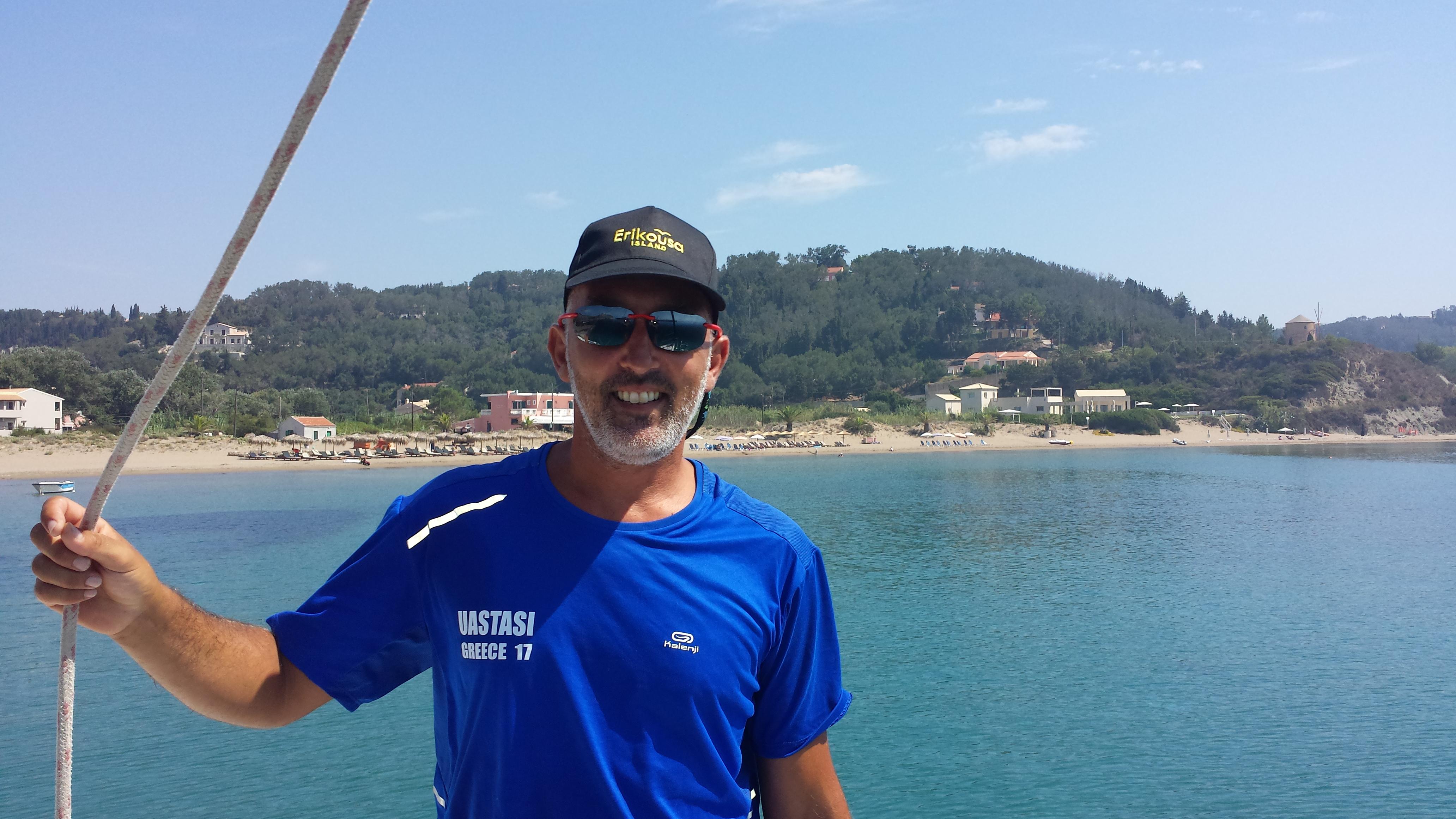 Skipper Francesco Simone Barca a vela